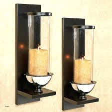 white wall sconces for candles hurricane sconce candle holder large metal