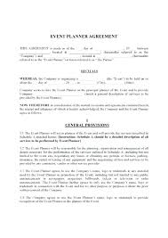 Contracts For Event Planners Event Planner Agreement Template Events ...