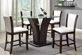 manhattan white 5 piece pub dining table set andrew s furniture pertaining to counter height glass idea 9