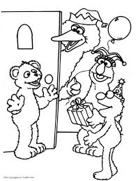 Small Picture Sesame Street printable coloring pages