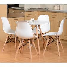 eames round dining table set