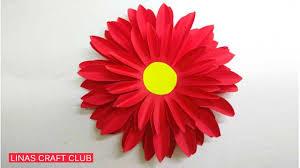 Paper Flower Video How To Make Dahlia Paper Flower Easily 2019 Linas Craft Club