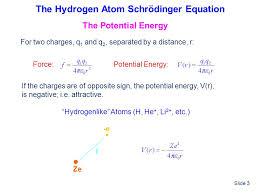 the hydrogen atom schrödinger equation