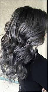 Soft Smokey Silver Grey Highlights On