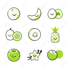 Two Tone Icons Collection Of Icons With Two Tone Exotic Fruits Royalty Free