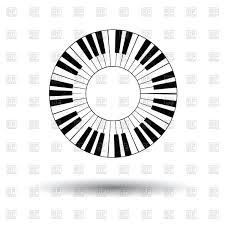 Circle clipart piano 39