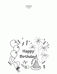 Small Picture Printable birthday card coloring page First Grade Ideas