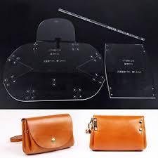 Leather Templates Wuta Mini Lady Clutch Handbag Leather Template Acrylic Pattern Craft