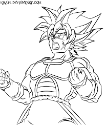 Small Picture Dragon Ball Z Coloring Pages Bardock High Quality Coloring Pages