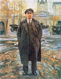 the truth about vladimir lenin the father of post truth politics a painting of lenin by isaak brodsky lenin in front of smolny