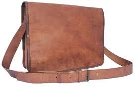 Men's Leather Messenger Bag 15