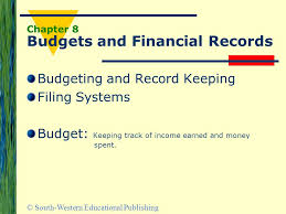 South Western Educational Publishing Chapter 8 Budgets And