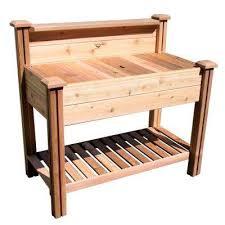 potting bench with shelf