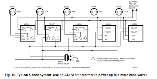 hot water boiler piping zone valves and wiring diagrams Honeywell Wireless Zone System wiring diagram 5 zone valves