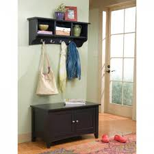 Metal Hall Tree Coat Rack Furniture Black Hall Tree Storage Bench With Metal Hooks And Small 86