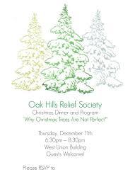 Christmas Program Theme Relief Society Christmas Party Idea Why Christmas Trees