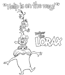 25 Lorax Coloring Pages Coloringstar