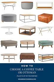 Having both will provide you with the benefits of both, and make your living room the perfect space to hang out in. How To Choose A Coffee Table Or Ottoman Plus 15 Favorites