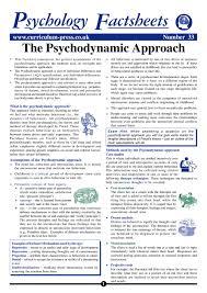 Psychodynamic Approach Curriculum Press The Psychodynamic Approach