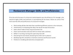 restaurant manager resume sample pdf . job duties checklist template