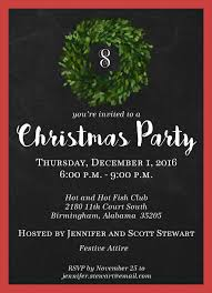 Christmas Holiday Invitations 4349 Boxwood Wreath Holiday Invitation