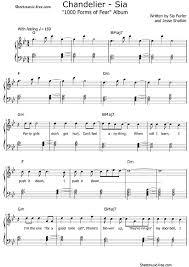 chandelier piano sheet easy chandelier sheet chandeliers drinking game