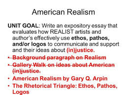 spooky scary but educational lesson ppt  american realism unit goal write an expository essay that evaluates how realist artists and author s