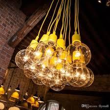 muuto pendant light e27 bulb lamp diy pendant lamp bar light restaurant light silicone rubber ceiling pendant lamp with globe bulbs drum light pendant