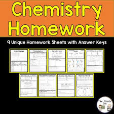 best chemistry for middle school images  chemistry homework this resource contains 9 unique homework sheets front and back answer