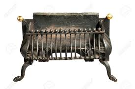 antique fireplace iron grate victorian for smaller fire places stock photo 44140477