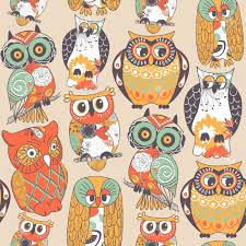 Owl Pattern Inspiration Seamless Owl Pattern Royalty Free Cliparts Vectors And Stock
