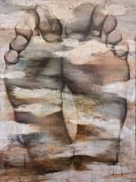 giclee fine art print from original oil painting of feet by meredith o neal