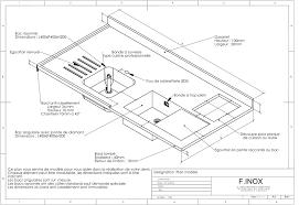 Dimension Plan De Travail Cuisine 1 Avec Cuisine Inox Sur Mesure Et