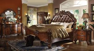 Leather Bedroom Furniture Vendome Leather Bedroom Set By Acme Furniture Home Gallery Stores
