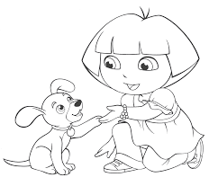 Dora Coloring Pages Free Printable Coloring