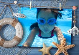 creative way to adorn your sea vacation photo nautical photo frame