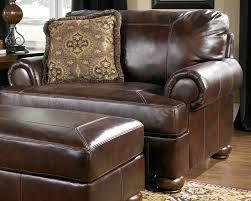 axiom walnut chair and a half by ashley furniture