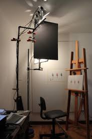 painting studio lighting. Every Light Stand Has Large Tripod Legs That Would Never Work In The Space  I Have; So Opted To Build My Own From 1/2\ Painting Studio Lighting T