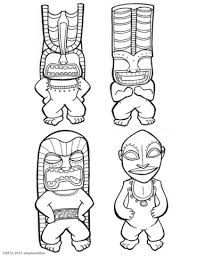 Small Picture Tiki Gods coloring page Free Printable Coloring Pages
