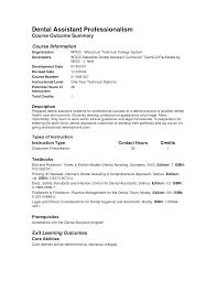 Free Dental Assistant Resume Templates Tomyumtumweb Com