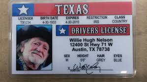 Willie Driver's License Novelty Ebay Nelson Texas -
