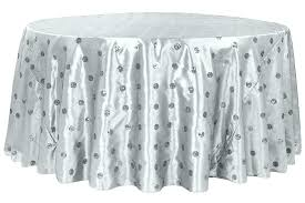table cloth 120 inch table cloth round white tablecloth x polyester rosette tablecloths sequin embroidery taffeta