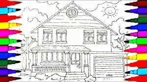 Coloring Book Family House Coloring Pages L Kids Drawing And