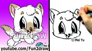 Small Picture How to Draw a Cat Learn to Draw Cute Drawings Fun2draw YouTube