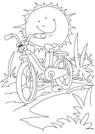 printable summer coloring pages free of the sun themed
