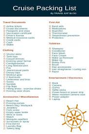 Cruise Packing List Cruise Packing List What To Pack For A Cruise Travel Eat Blog