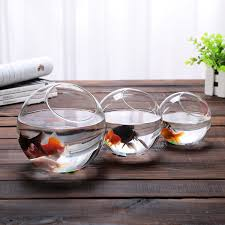 Decorative Clear Glass Bowls Aliexpress Buy 60 New Clear Glass Bowl Vase Fish Tank 6