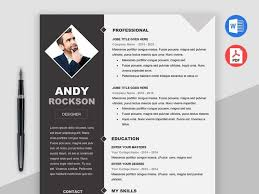 Modern Elegant Font For Resume Free Modern Elegant Photo Cv Resume Template In Microsoft