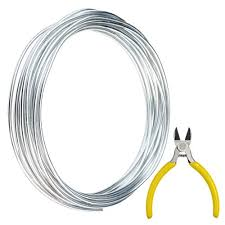 Armature Wire Gauge Chart Obmwang 32 8 Feet Silver Aluminum Wire With 1 Side Nose Plier Bendable Metal Craft Wire Armature Wire For Doll Skeletons Diy Crafts Halloween