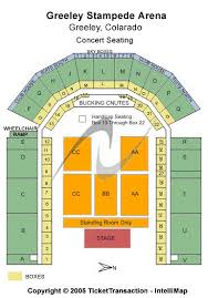 Stampede Rodeo Seating Chart Greeley Stampede Seating Chart